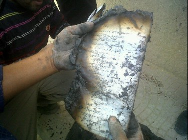 Burnt documents on students with Salafi leanings