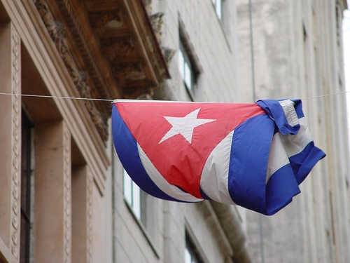 Cuban flag. Image by Flickr user pietroizzo (CC BY-NC-SA 2.0).