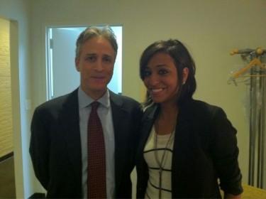 Gigi Ibrahim with Jon Stewart
