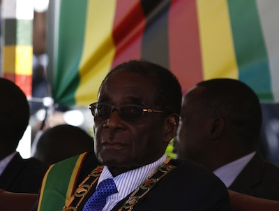 Robert Mugabe at Zimbabwe's Independence Day celebrations 2009, Harare. Image by Zimbo Zimbo, copyright Demotix (17/04/2009).