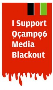 "Facebook logo for page ""I Support Ocampo6 Media Blackout""."