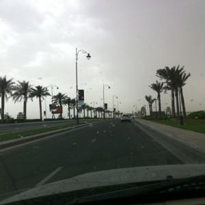 @mabdrabbo: Rain in Doha http://instagr.am/p/DFL5w/