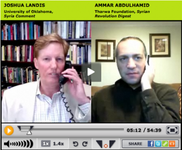 Blogtalk conversation between Ammar Abdulhamid and Joshua Landis