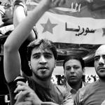 متظاهرون أمام السفارة السورية في القاهرة - تصوير حسام الحملاوي