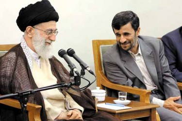 Khamenei and Ahmadinejad in happier times