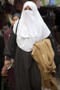 A woman wearing a niqaab covering. Image by Flickr user ashi (CC BY 2.0).