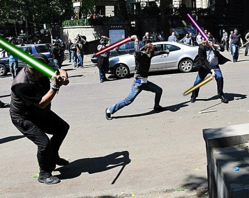 The clashes reminded some of Star Wars.