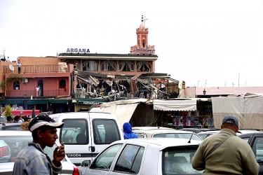 Foto dell'Argana dopo l'esplosione