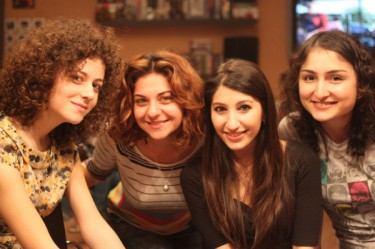 @JonesJakeThe: #Eurovision fans from #Azerbaijan #Armenia and #Georgia celebrate and watch togetherhttp://twitpic.com/4xmqvg