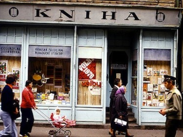 Shopfront in Czechoslovakia, 1976. Image by Flickr user docman (CC BY-NC 2.0).