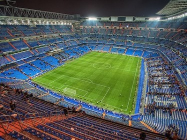Real Madrid CF Santiago Bernabéu Stadium. Image by Flickr user marcp_dmoz (CC BY-NC-SA 2.0).