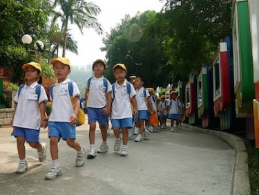 Hong Kong school children. Image by Flickr user wok (CC BY-NC-ND 2.0).
