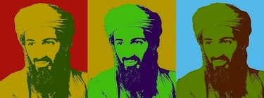 Osama Bin Laden. Modified from image by Flickr user Anxo Resúa (CC BY-NC-SA 2.0).