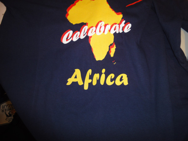 @Luyanda_Peter received a t-shirt made in China to celebrate Africa Day. Photo courtesy of Twitter user @Luyanda_Peter.