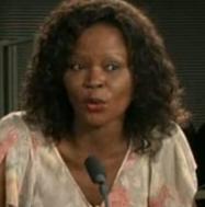 Calixthe Beyala. Screenshot from video on Calixthebeyala.com.