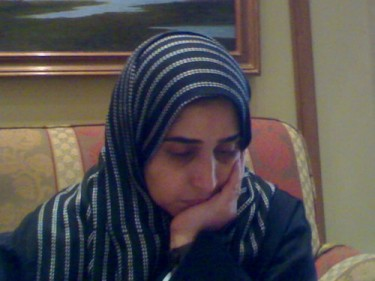 A picture of Najla Hariri taken from her Twitter account @hariri65.