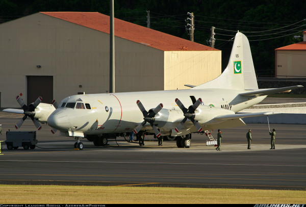 P-3C Orion surveillance aircraft. Image via Twitpic by @FarrukhSiddiqui.