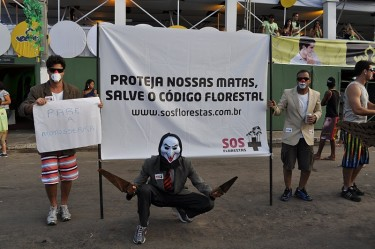 """Protect our woods - Save the Forest Code"" Photo from the blog of the AASPAFF (Association for Social Action and Conservation of Water, Fauna and Flora of the northern Chapada), used with permission."