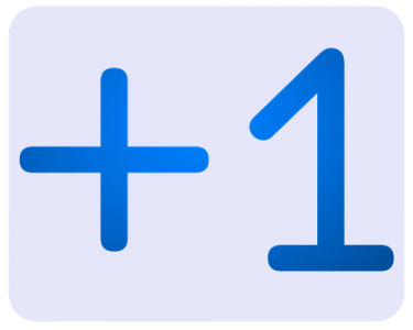 +1Vote mobilisation campaign logo