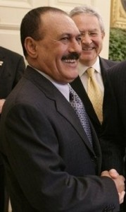 President of Yemen Ali Abdullah Saleh. Image by US Government, available in public domain.