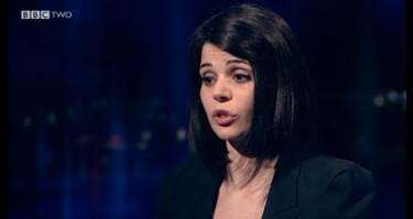 Jelena Lecic praat met de BBC (screenshot van het interview)