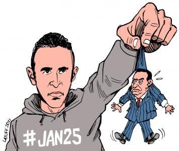 Carlos Latuff: Khaled Said and Mubarak