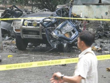 A Car Bomb Blast in Mandalay (Source: Eleven Media)