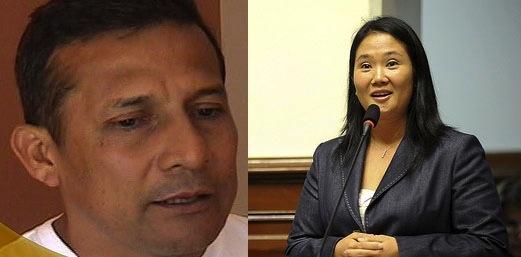 Peruvian election candidates Ollanta Humala and Keiko Fujimori. Photos: TVCultura (CC BY-NC-SA 2.0) and Congress of the Republic (CC BY 2.0).