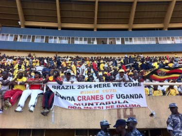 Over 50,000 fans watched the game at the Mandela National Stadium. Photo courtesy of Twitter user @mugumya.