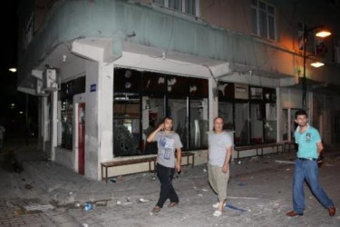 Stores, cars, and many other kinds of private property, around the area of the clashes, were damaged.