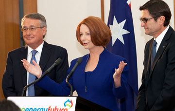 PM Gillard launches the Clean Energy Future website. Photo: Clean Energy Future