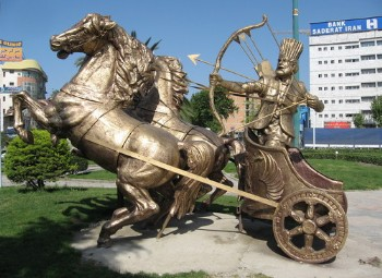 Iranian mythological hero and archer, Arash Kamangir.