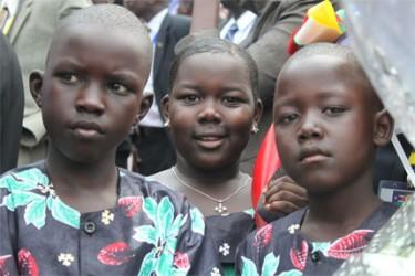 Bambini alle celebrazioni per l'indipendenza del Sud Sudan.
