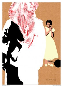 Graphic work by Kuwaiti Artist Mohammed Sharaf condemning what happened to the girl of Tabuk.