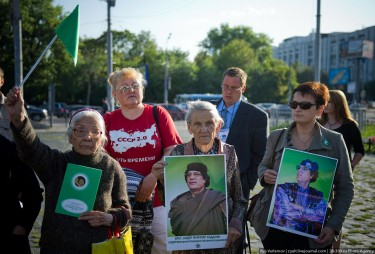 Qaddafi supporters in Moscow. Photo by Ilya Varlamov