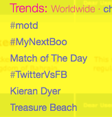 #TwitterVsFB a worldwide trending topic tonight