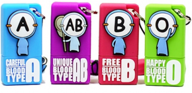 USBs based on the characters from the blood type cartoons. Image from Cartoonist Park's blog (CC BY NC ND).