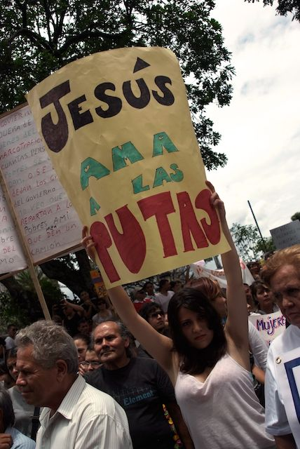 """Jesus Loves Sluts"" by Julia Ardón, 2011"