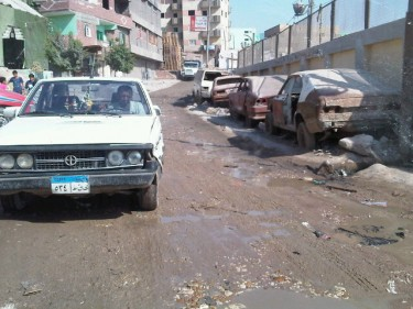 Foto di una strada di Ezbet Khairallah.