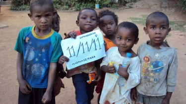 Kids in Madagascar join the 11Eleven Project