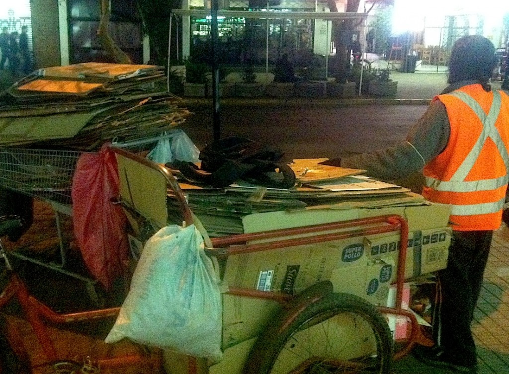 Picking Cart in Santiago, Photo By: Katie Manning
