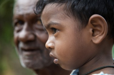 Young and old in Sri Lanka