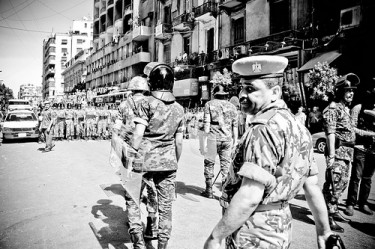 Tahrir square in Cairo cleared by army on 1 August, 2011
