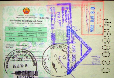 Stamped passport. Image by Flickr user Sem Paradeiro (CC BY-NC 2.0).