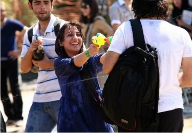 Water gun festival in Tehran