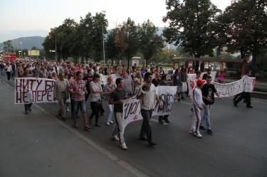 Skopje Macedonia protest September 29, 2011