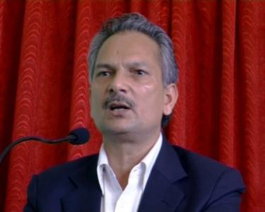 Prime Minister Dr. Baburam Bhattarai. Image by Krish Dulal. (CC BY -SA 3.0)