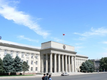 Kyrgyz parliament. Image by Flickr user benpaarmann (CC BY 2.0).
