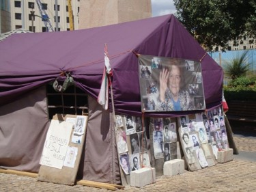 The tent of the Families of Missing and Detained in Syria