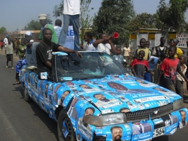 Presidential candidate Rupiah Banda's last campaign rally in Lusaka. Image by Owen Miyanza, copyright Demotix (17/09/2011).